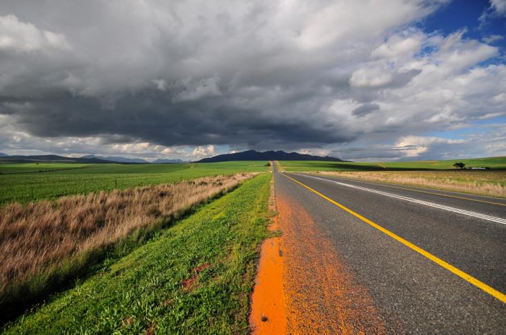 Route dans le Petit Karoo - Afrique du Sud