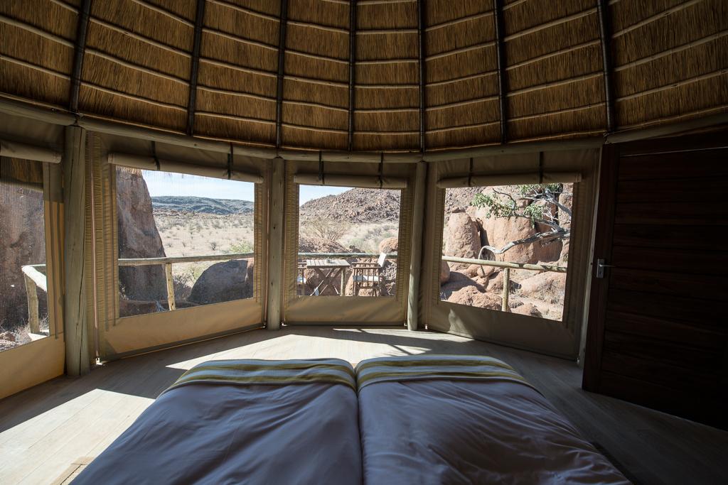 Chambre avec vue au Mowani Mountain Camp - Twyfelfontein (Namibie)