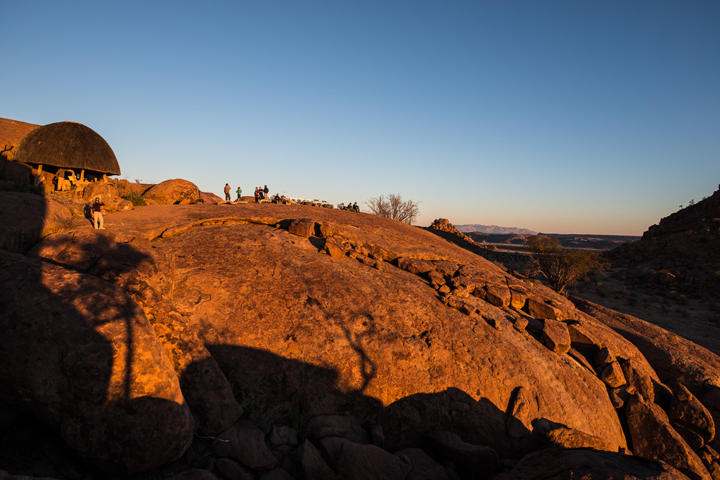 Sunset bar du Mowani Mountain Camp - Twyfelfontein (Namibie)