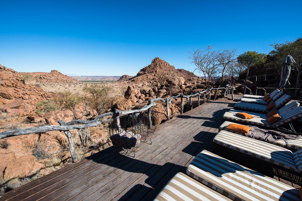 Vue depuis la piscine du Mowani Mountain Camp - Twyfelfontein (Namibie)