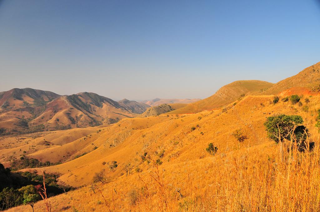 Paysage sur la route entre Barberton et Bulembu - Afrique du Sud