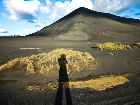 Le cône du Volcan Yasur, recouvert de cendres - Tanna (Vanuatu)