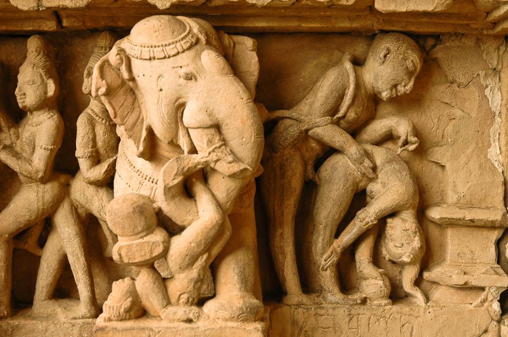 Gravure érotique - Khajuraho (Inde)