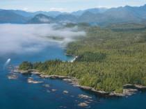 Ile de Vancouver vue du ciel