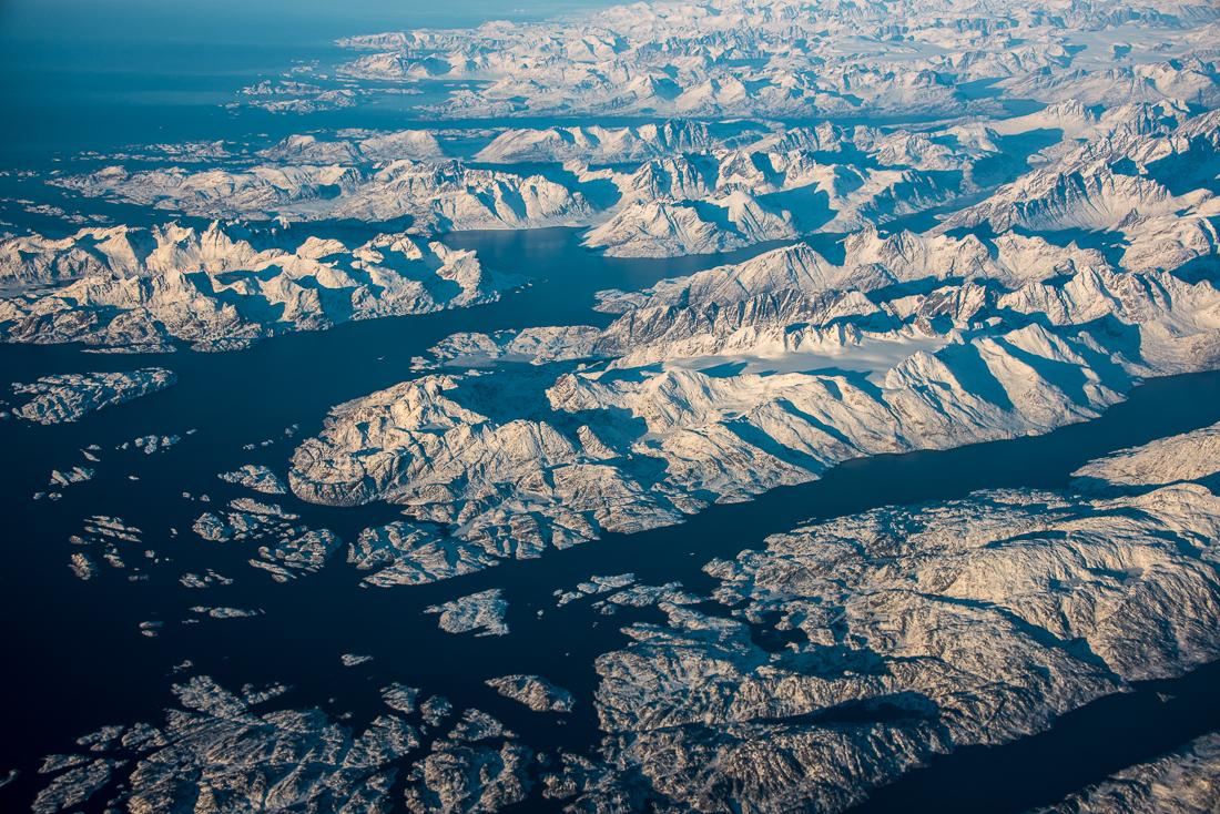 Photo Groenland vu du ciel