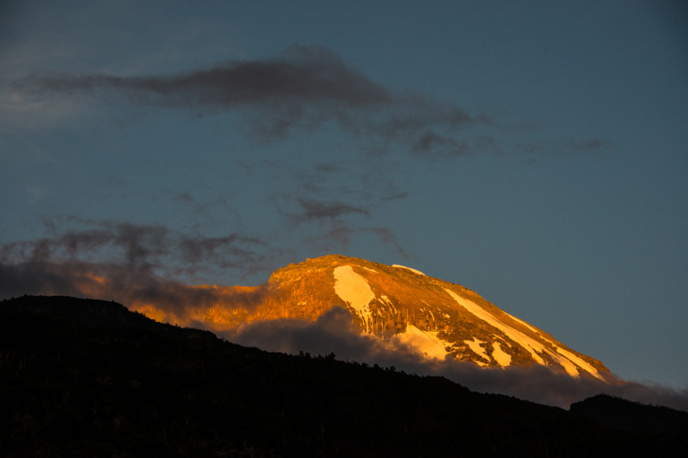 Tanzanie - Kilimandjaro coucher de soleil