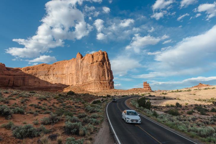 itineraire ouest américain - route