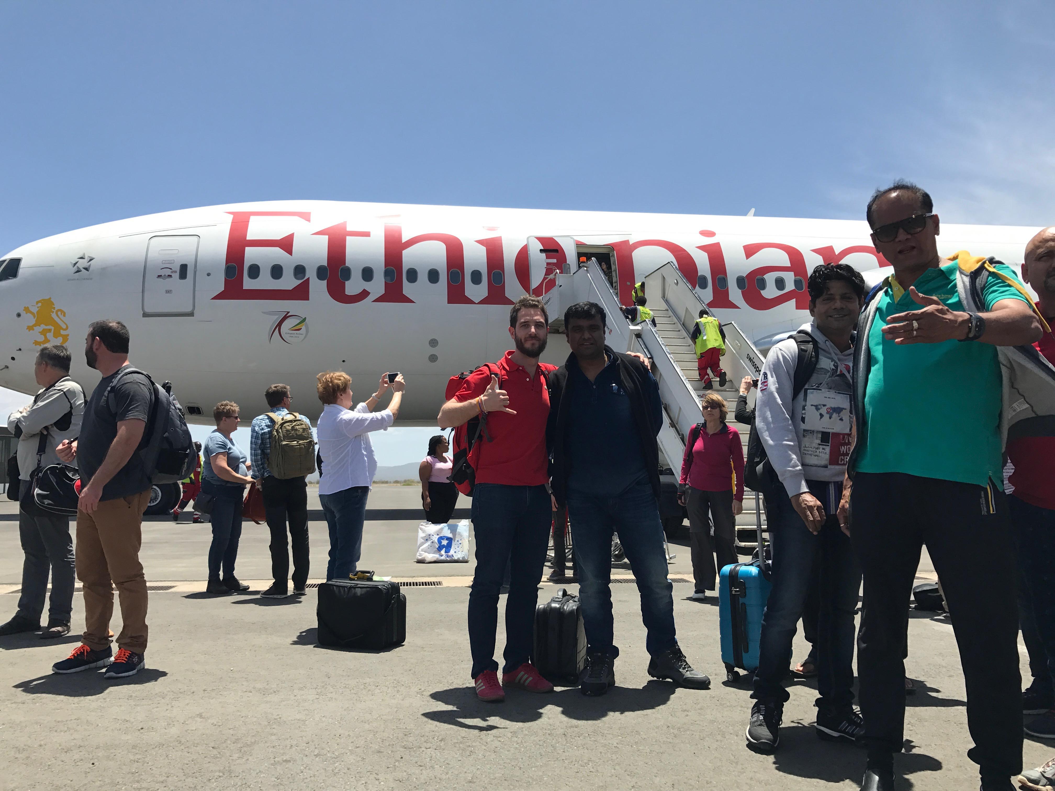 selfie ethiopian airlines kilimandjaro