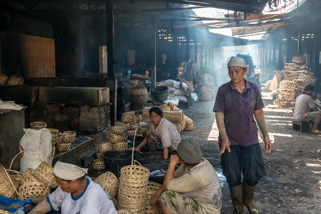 marché poissons kusamba bali indonesie
